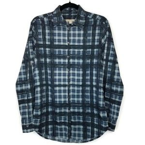 Burberry Brit Plaid Collared Button Front Blouse